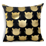 Gold Black and White Throw Pillows