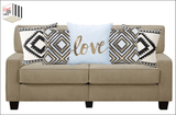 Gold Love Quote Throw Pillow