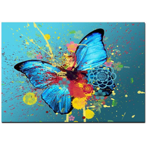 Graffiti Butterflies Canvas Painting Print