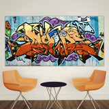 Graffiti Spray Painted Canvas Print