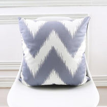 Gray and White Chevron Print Throw Pillow