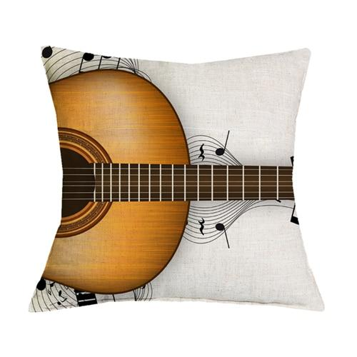 Guitar Throw Pillow Combination Unique Music Themed Accent Pillows