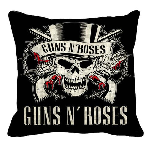 Guns N Roses Throw Pillows Home Decor