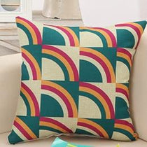 Half Circles Geometric, Retro Pattern Throw Pillows