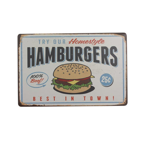 """Hamburgers"" Vintage Bar/Restaurant/Diner Sign, Pub Decoration"