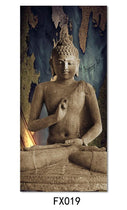 Hanging Buddha Meditation Canvas Painting, India, Nepal Wall Art