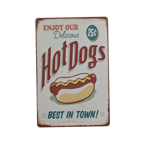 """Hot Dogs"" Vintage Bar/Restaurant/Diner Sign, Pub Decoration"
