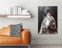 Howling Wolf HD Canvas Print