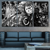Industrial Engine Gears Canvas Print Set