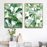 Jungalow Style Tropical Plants Canvas Prints