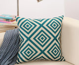Kelly Green and White Diamond Pattern Throw Pillow
