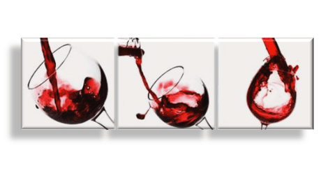 Kitchen Art Set Pouring Beverage into Glass