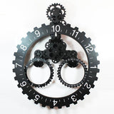 Large Mechanical Gear Wall Clock, 25 inches, 4 Colors