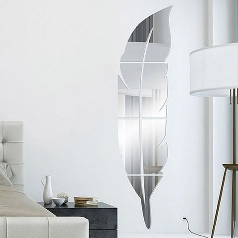 Large Unique Feather Wall Mirror