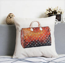 Louis Vuitton Pattern Throw Pillow Fashion Themed Home Decor