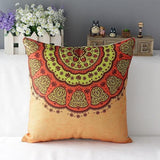 Mandala Flower Throw Pillow Covers