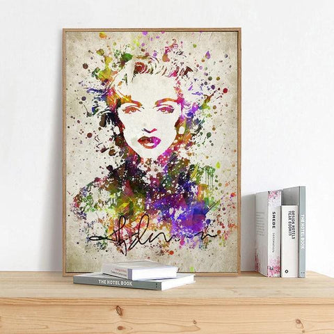 Marilyn Monroe Colorful Graffiti Pop Art