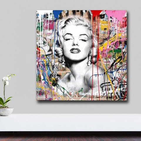 Marilyn Monroe Pop Art Canvas Painting