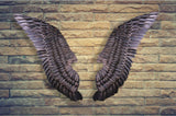 Metal Angel Wings Wall Sculpture, Gold or Black