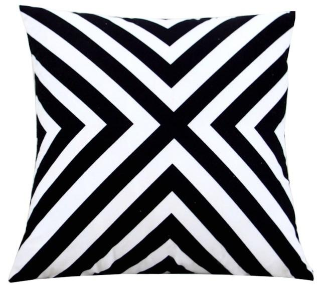 Minimalist Black And White Throw Pillows Extraordinary Black And White Striped Decorative Pillows
