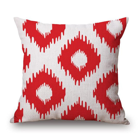 Modern Diamond Pattern Throw Cushion Covers in Turquoise, Yellow and Red