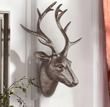 Modern Speckled Pearl Metallic Deer Head Wall Decoration