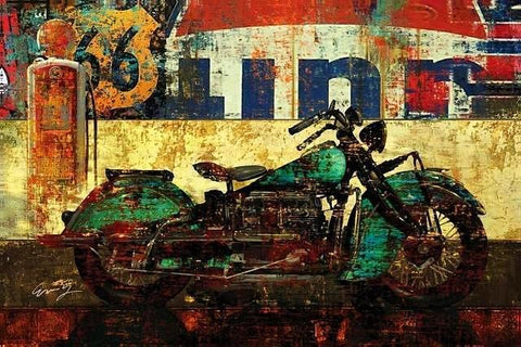 Motorcycle Abstract Street Art Picture for Wall