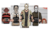 Movie Villains Police Line Up Canvas Print Set