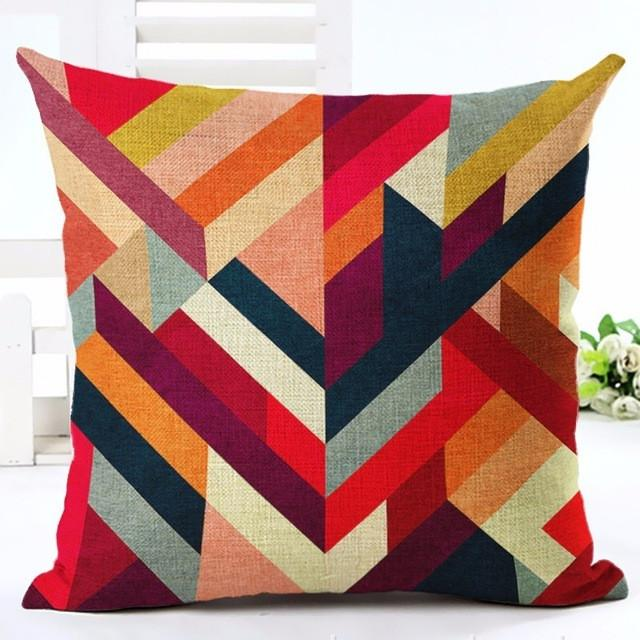 Geometric Herringbone Pattern Throw Pillow
