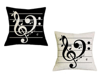 Music Notes Music Themed Accent Pillows