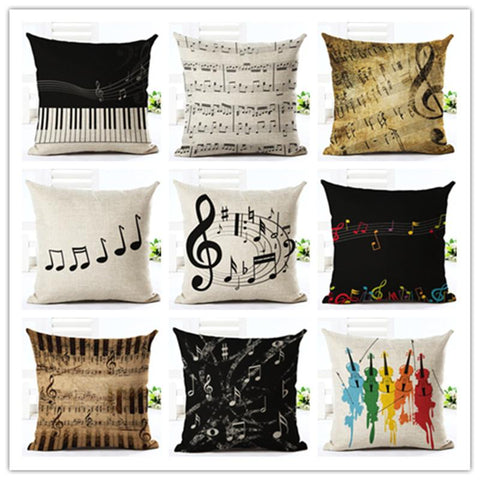Music Themed Accent Pillows, Music Note Throw Pillows