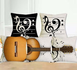 Musical Instrument Throw Pillow Combinations