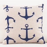 Navy Blue and White Striped Throw Pillow Covers