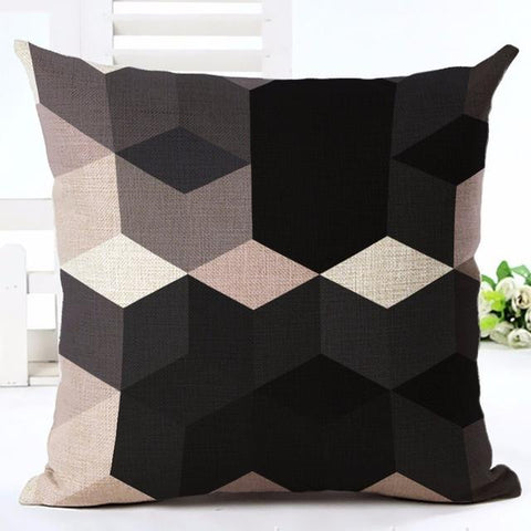 Nordic Style Geometric Diamond Throw Pillow