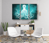Octopus Seal Life 3 Canvas Artwork