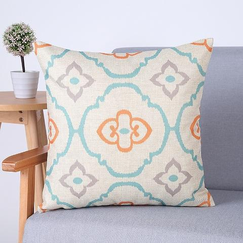 Orange and Turquoise Modern Throw Pillows