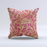 Paisley Pattern Accent Cushion Cover, Black/White