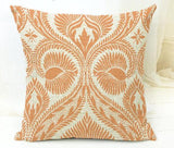 Paisley Patterned Accent Pillow Covers, Oranage