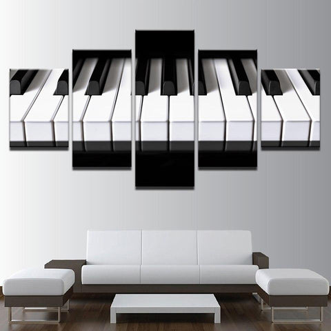 Piano Keys Canvas Print, 5 Panel Set