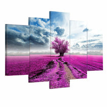 Pink, Purple Floral Tree Wall Art Set