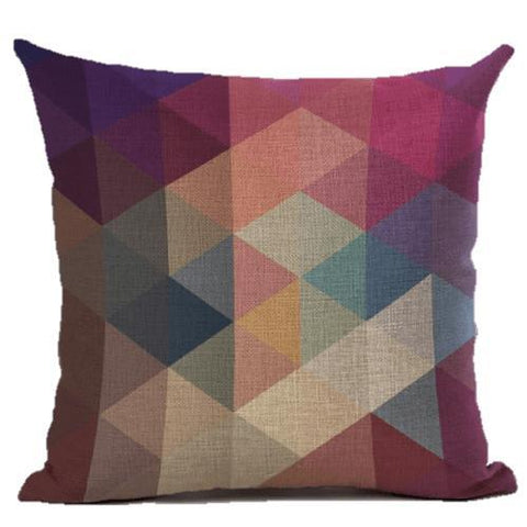 Plum Magenta Diamond Geometric Throw Pillow