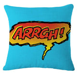 Pop Animation Comic Con Throw Pillows, BANG, BAM, KaBoom
