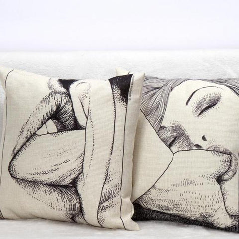 Sexy Scenes Throw Pillows