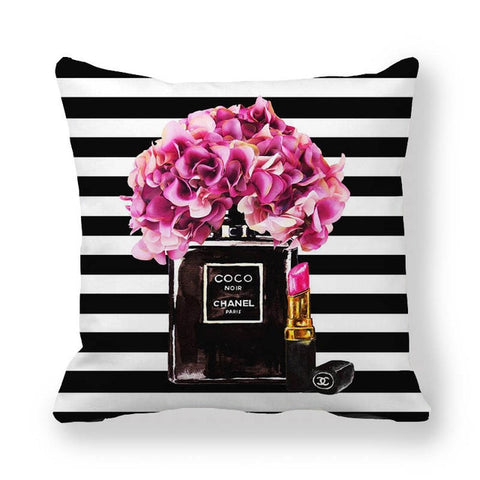 Fashion Chanel No. 5 Home Decor Throw Pillows