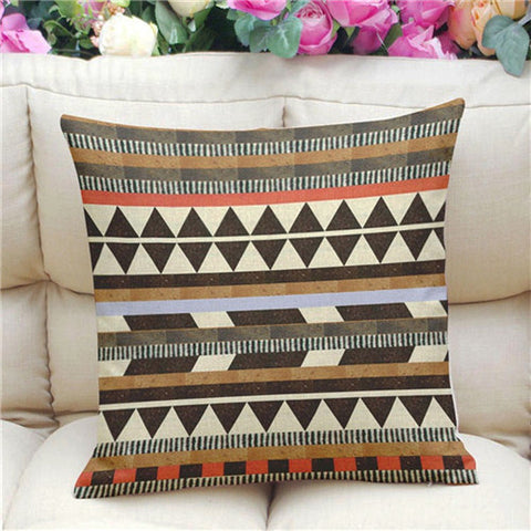 Geometric Pattern Accent Cushion Cover, Tribal