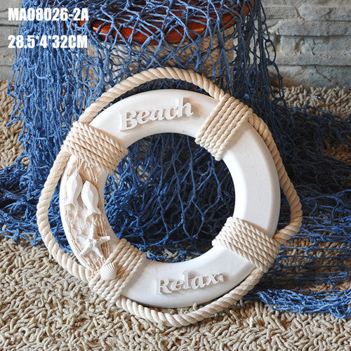 Nautical Life Raft Buoy Home Wall Decoration