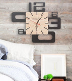 Large Wood Wall Clock with Unique Style Numbers