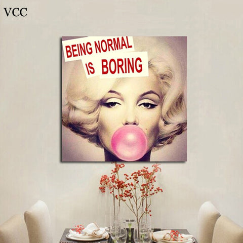 Marilyn Monroe Bubble Gum Pop Art - Shop Cheap Wall Decor Online
