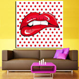 Andy Warhol Style Red Lips Canvas Art