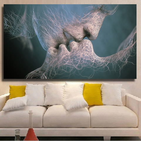 Face to Face Nerves Love Canvas Wall Art